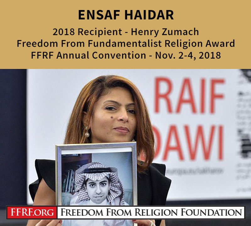 2018 Henry Zumach Freedom From Fundamentalist Religion Award